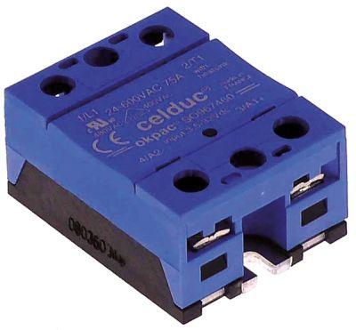 ρελέ CELDUC  φάσεις 1 φάση 75A 24-600 V 3-32VDC  Μ 59mm W 45mm βίδα τύπος SO967460