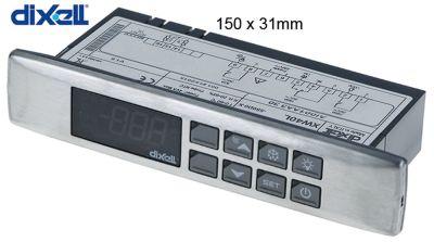 ηλεκτρονικός ελεγκτής DIXELL  XW40L μετρήσεις στερέωσης 150x31 mm