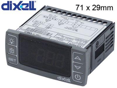 ηλεκτρονικός ελεγκτής DIXELL  XR10CX μετρήσεις στερέωσης 71x29 mm 230V τάση AC