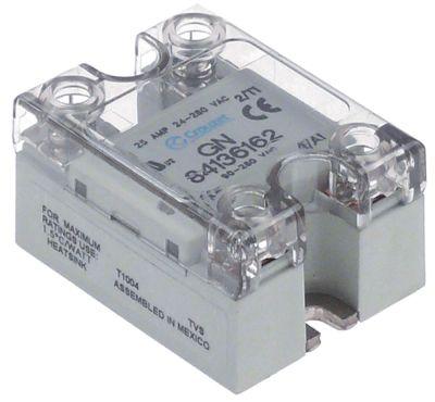 ρελέ CROUZET  1 φάση 25A 24-280 V 90-280VAC  Μ 58mm W 45mm βίδα τύπος 84136162