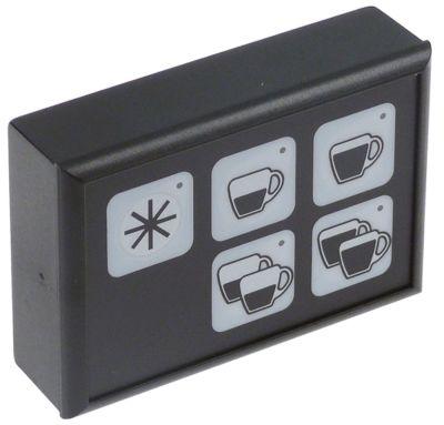 πληκτρολόγιο Μ 88mm W 60mm κουμπιά 5 μηχανή καφέ