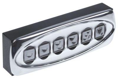 πληκτρολόγιο μηχανή εσπρέσο για συσκευή Lira 1-2-3-4 gr.  κουμπιά 6 Μ 135mm