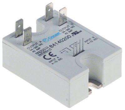 ρελέ CROUZET  φάσεις 2 40A 24-280 V 5-15VDC  Μ 58mm W 44mm αρσενικό εξάρτημα 6,3mm