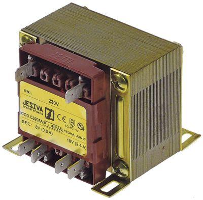 μετασχηματιστής κύρια τάση 230V δευτερεύον 8/18V 48VA δευτερεύον 0,6/2,4 A