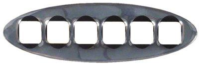 μεμβράνη πρόσοψης Μ 132mm W 42mm επιχρωμιωμένο για πληκτρολόγιο