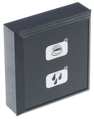 πληκτρολόγιο μηχανή καφέ για συσκευή CARMEN  κουμπιά 2 Μ 88mm W 83mm μαύρο/ασημί