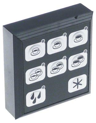 πληκτρολόγιο μηχανή καφέ για συσκευή CARMEN  κουμπιά 8 μαύρο/ασημί Μ 88mm W 83mm