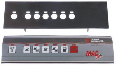 μεμβράνη πληκτρολογίου με πίνακα ελέγχου Μ 310mm W 88mm κουμπιά 7