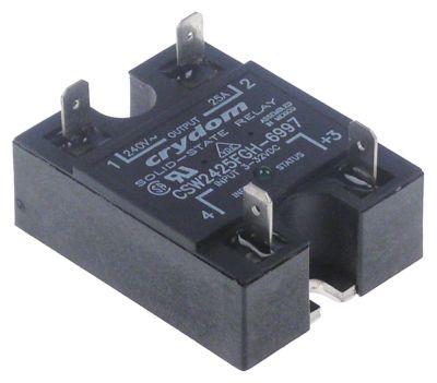 ρελέ CRYDOM  φάσεις 1 25A 240V 3-32VDC  Μ 58mm W 45mm αρσενικό εξάρτημα 6,3mm