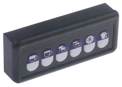 πληκτρολόγιο κουμπιά 6 ασημί/μπλε Μ 120mm W 50mm