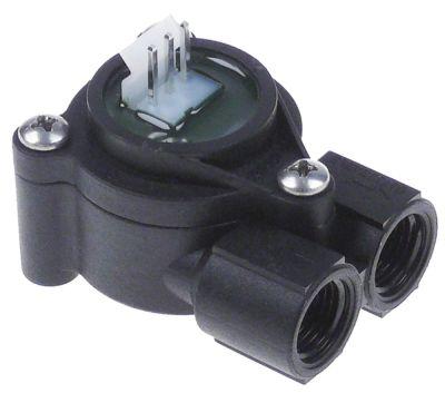 ροομετρητής σπείρωμα 1/4″  πλαστικό  - ονομαστική-ø 1,15mm έγκριση NSF  σύνδεση plug-in