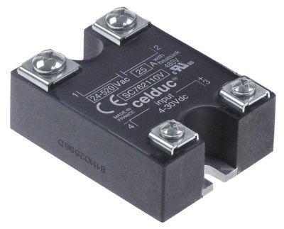 ρελέ CELDUC  1 φάση 25A 24-520 V 4-30VDC  Μ 58mm W 44mm βίδα τύπος SC762110V  4-30VDC