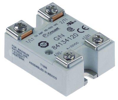 ρελέ CROUZET  φάσεις 1 φάση 50A 48-660 V 4-32VDC  Μ 57mm W 44mm βίδα τύπος 84134120