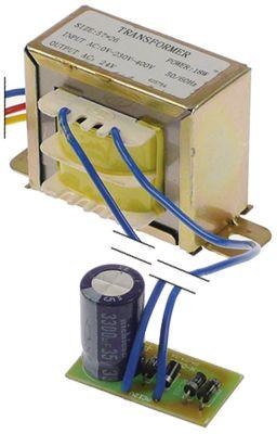 μετασχηματιστής κύρια τάση 230/400VAC  δευτερεύον 24VDC  18VA δευτερεύον 0,75A Μ 57mm