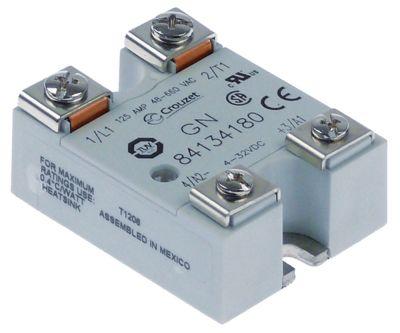 ρελέ CROUZET  φάσεις 1 φάση 125A 48-660 V 4-32VDC  Μ 57mm W 44mm βίδα τύπος 84134180