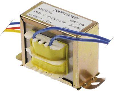 μετασχηματιστής κύρια τάση 230/400 V δευτερεύον 24VAC  18VA σύνδεσμος καλώδιο 50/60 Hz