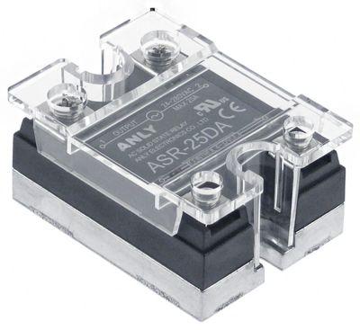 ρελέ ANLY  1 φάση 25A 24-280 V 4-32VDC  Μ 47,5mm W 43mm βίδα τύπος ASR-25DA