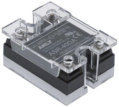 ρελέ ANLY  φάσεις 1 40A 24-280 V 4-32VDC  Μ 47,5mm W 43mm βίδα τύπος ASR-40DA