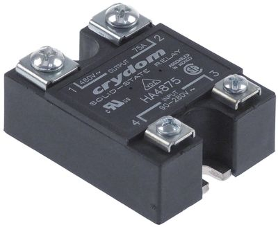 ρελέ CRYDOM  φάσεις 1 75A 48-480 V 90-280VAC  Μ 58,4mm W 45,7mm βίδα τύπος HA4875