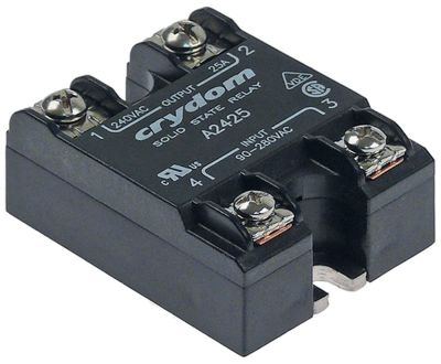 ρελέ CRYDOM  1 φάση 25A 240V 90-280VAC  Μ 57mm W 44,6mm βιδωτή σύνδεση τύπος A2425