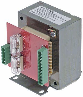 μετασχηματιστής κύρια τάση 110-250VAC  δευτερεύον 18VAC  100VA H 103mm Μ 80mm W 100mm