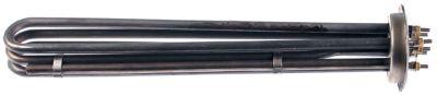αντίσταση 4540W 230V θερμαντικά κυκλώματα 3 Μ 323mm W 36mm H 48mm φλάντζα στρογγυλή