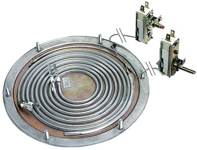 αντίσταση κάτω μέρους 3000W 230V θερμαντικά κυκλώματα 2 ø 196mm