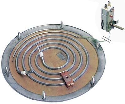 αντίσταση κάτω μέρους 1800W 230V θερμαντικά κυκλώματα 1 ø 196mm