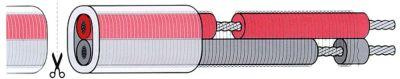 αντίσταση καλώδιο 230V 1756Ω/m 30W/m ø 7mm Ποσ. παρέχεται με το μέτρο