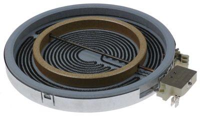κεραμική εστία στρογγυλό ø 230mm 2200/1000 W 400V θερμαντικά κυκλώματα 2
