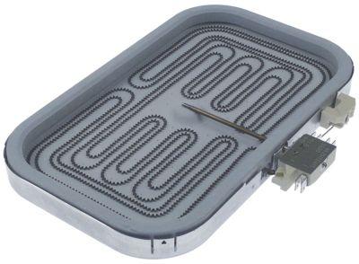 κεραμική εστία ορθογώνια φλάντζα 2300W 230V Μ 320mm W 230mm H 35mm θερμαντικά κυκλώματα 1 EGO