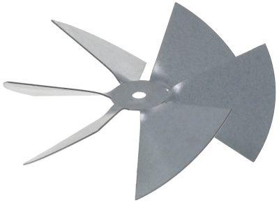φτερό ανεμιστήρα ø 117mm ø εισαγωγής άξονα 6mm H 34mm για αποχυμωτές για μοτέρ