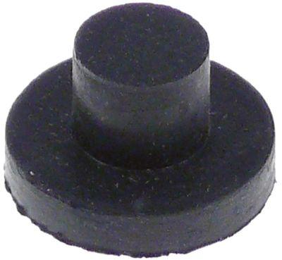ποδαράκι ø 20mm H 4mm ø διάταξης στερέωσης 10mm συνολικό ύψος 12mm ελαστικό Ποσ. 1 τεμ.