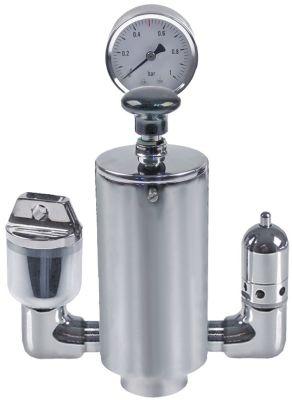 θήκη ασφάλειας σπείρωμα 3/4″  0,45bar μανόμετρο/διαχυτήρας αέρα/βαλβίδα εξαέρωσης αριστερά/χοάνη δεξιά