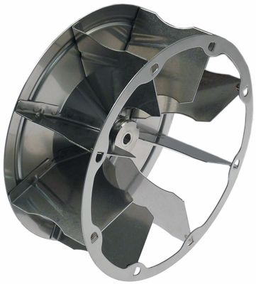 φτερό ανεμιστήρα πτερύγια 8 ø D1 195mm ø D2 8,5mm ø D3 11,3mm H1 80mm H2 35mm