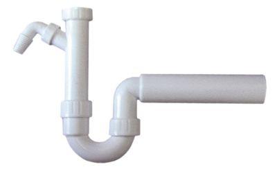 σιφόνι νιπτήρες 1 σπείρωμα 1½″  ευθύ PP  μέγ. απόσταση εκροής 150mm λευκό ø στομίου 50mm
