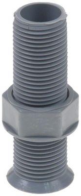 σύνδεσμος αποχέτευσης για πάγκους με ψύξη σπείρωμα 1/2″  ø αναγν. 15mm Μ 72mm