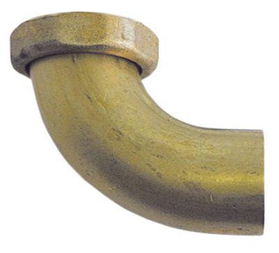 σύνδεσμος αποχέτευσης ορείχαλκος με γωνία σπείρωμα 1½
