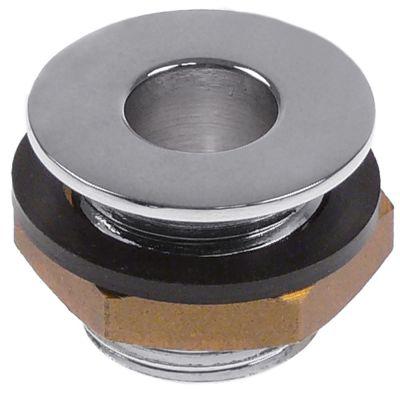 βαλβίδα στραγγίσματος μέγεθος 1/2″  ωφέλιμο ύψος  -mm συνολικό ύψος 21mm ΕΞ. ø 28mm