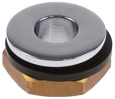 βαλβίδα στραγγίσματος μέγεθος 1/2″  ωφέλιμο ύψος  -mm συνολικό ύψος 16mm ΕΞ. ø 28mm