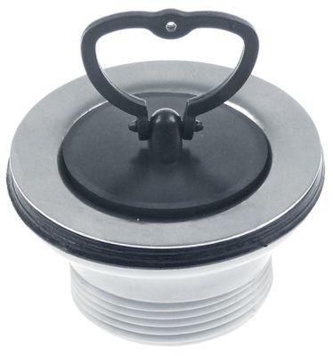 βαλβίδα στραγγίσματος μέγεθος 1 1/2″  ø 70mm με τάπα ανοξείδωτος χάλυβας/πλαστικό