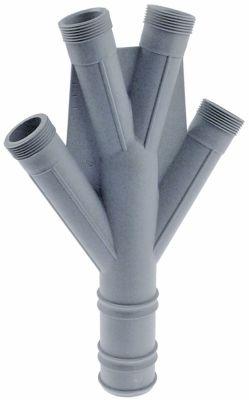 διανομέας πλύσης θέση στερ. πάνω ø 50mm Μ 345mm πλαστικό σπείρωμα 1¼″