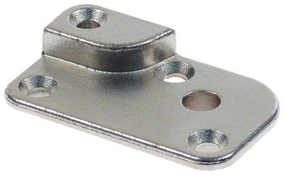 έδρανο περιστροφής Μ 60mm W 36mm H 22mm πάχος 3mm μπουλόνι 12mm