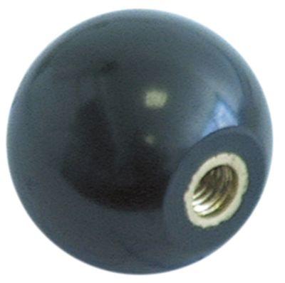 λαβή μπάλα σπείρωμα M6  ø 29mm με μεταλλικό δακτύλιο μαύρο