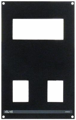 πρόσοψη για ηλεκτρονικό ελεγκτή Μ 164mm W 103mm μαύρο πάχος 3mm