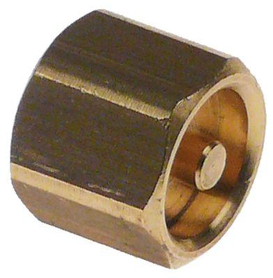 βαλβίδα ø εξάγωνο 16mm Μ 14mm ορείχαλκος