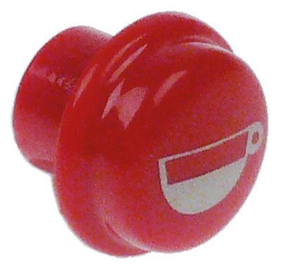 κουμπί στρογγυλό ø 17mm πλαστικό κόκκινο 1 μικρό φλιτζάνι SANREMO