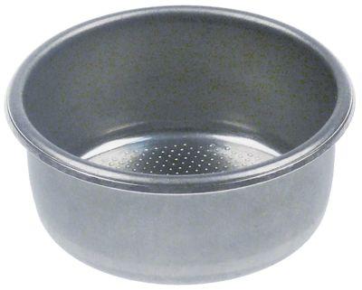 φίλτρο καφέ ø 60mm ø διάταξης στερέωσης 54mm H 25mm κύπελλα 2 ποσότητα καφέ  -g
