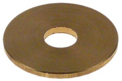 ροδέλες ø αναγν. 6mm ΕΞ. ø 21mm πάχος 1,5mm ορείχαλκος Ποσ. 1 τεμ.