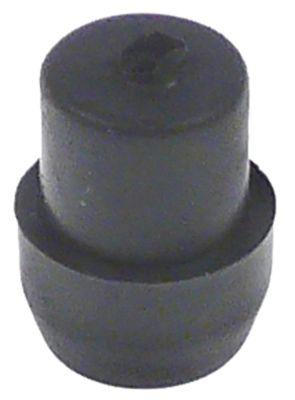 ποδαράκι ø 14mm H 9mm ø διάταξης στερέωσης 12mm συνολικό ύψος 20mm Ποσ. 1 τεμ. ελαστικό